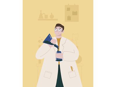 Doctor flat illustration flatdesign flat branding ux ui vector man comic art emotions person illustration design colors
