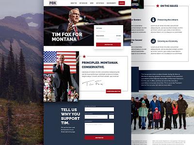 Tim Fox for Governor of Montana ui webdesigners interface design desktop design interface design web websitestyle website concept website design webdesign website