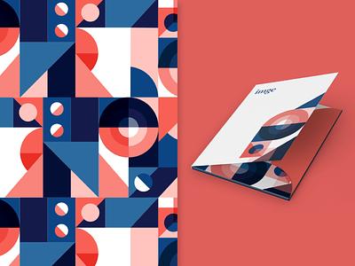 IMGE Branded Materials mockup geometric art geometric geometry idenity corporate identity corporate design branding design folder branding