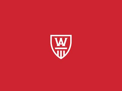 WA Law illustration design branding law a vector icon logo