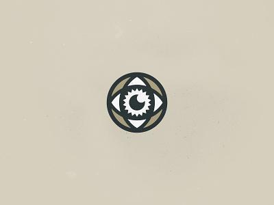 Stare Into the Sun vintage illustration grunge typography retro branding vector mystic tan line art eye icon brand logo sun