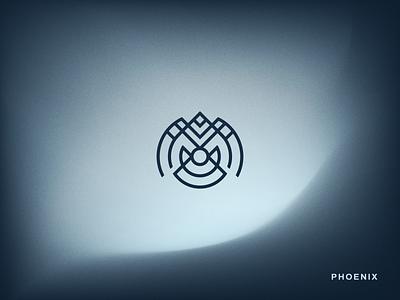 Phoenix Birb adobe illustrator lines icon circles mesh gradient vector logo lineart phoenix bird
