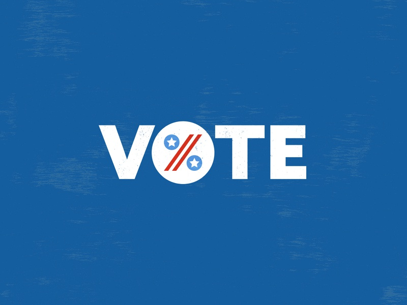 Vote typography vector grunge percent democracy america vote