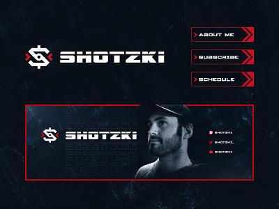 Streamer Logo - Shotzki crosshair logo reticle icon gaming esports twitch streamer