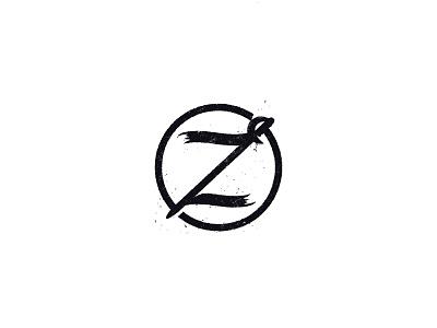 Z + Sword zorro sword z icon retro design logo illustration branding vector