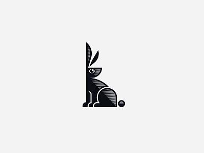 Bunny Wabbit retro design icon mark gradient illustration vector branding logo rabbit bunny