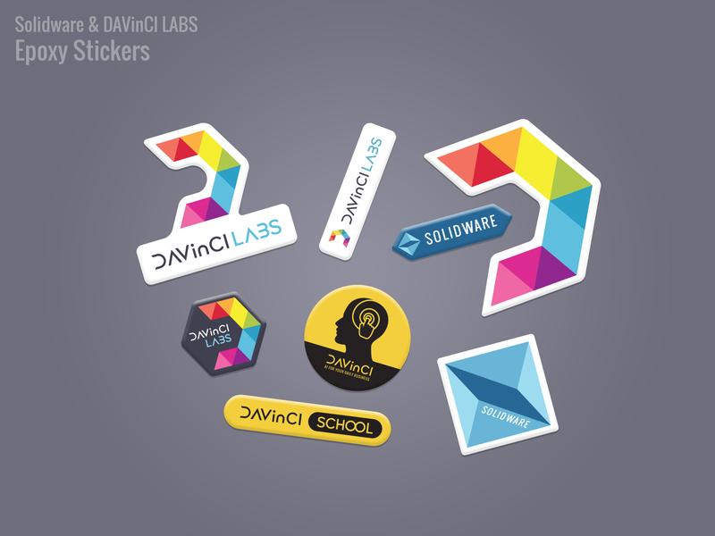 Epoxy stickers illustrator design photoshop graphicdesign print commercial sticker promotion solidware davinci labs epoxy