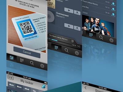 Music player App music player qr code app gui mobile ui ux