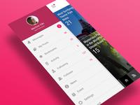 App UI : Side menu