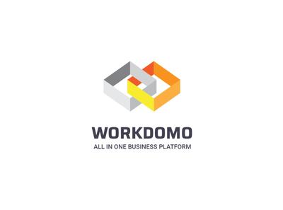 Workdomo BI (draft) wordmark symbolmark logo draft bi brand workdomo