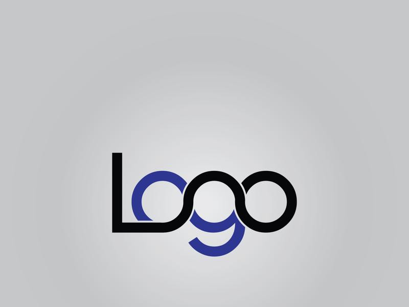 Logo type art illustrator vector minimal flat design typography logo