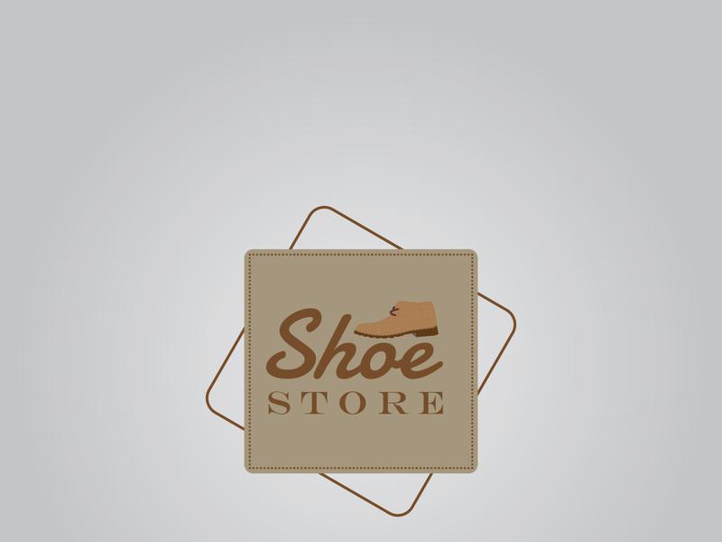 Shoes Store artist graphic design brand identity logodesign flat branding vector minimal logo illustrator design art