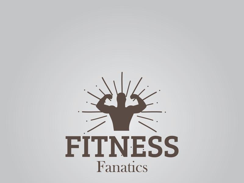 Fitness Fanatics logodesign brand identity artist branding illustrator trending logo designer fitness logodesigning fitness logo
