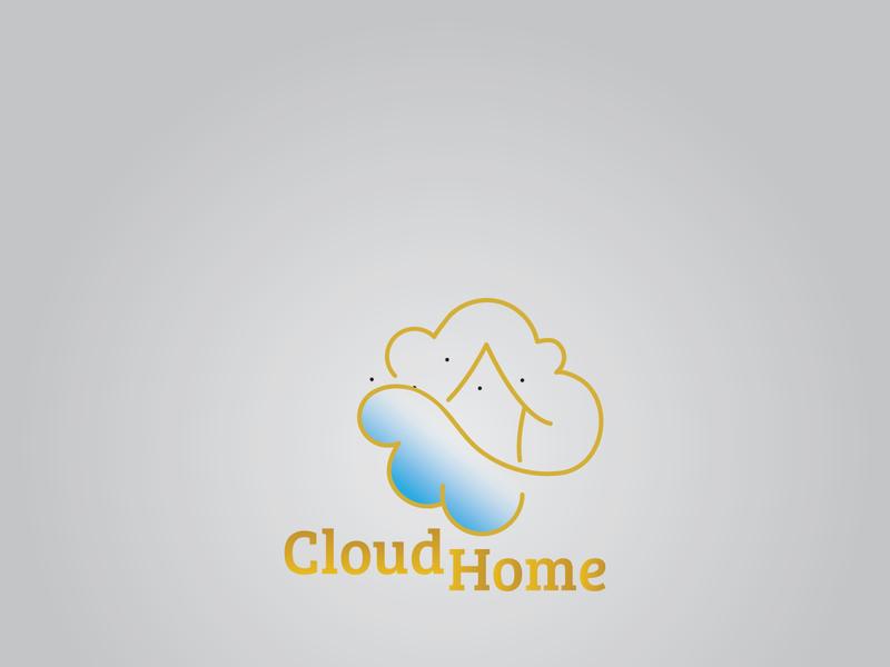 Cloud Home flat vector minimalist logo minimal graphic design logodesign branding art logo illustrator