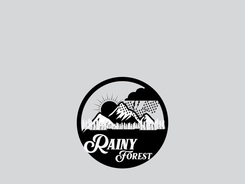 Rainy Forest designer logo designer graphic designer graphics graphic graphic design designlogo design artist logo art branding illustrator