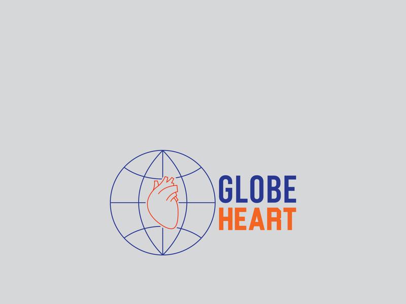 Globe Heart logo designer logo illustrator graphics graphic designer graphic design graphic designlogo designer design branding artist art