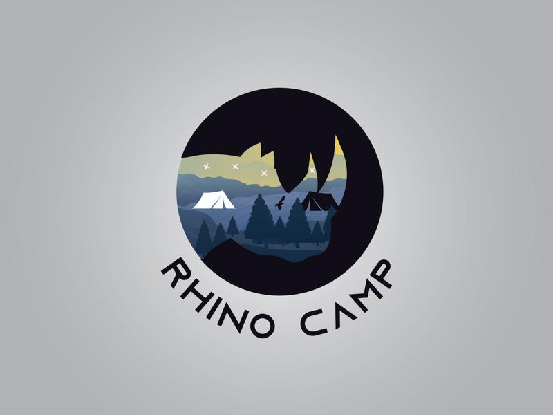 Rhino Camp graphic designer designer designlogo logo designer logodesign graphic design branding logo art illustrator