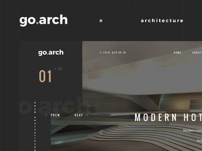 go.arch architecture bureau website buro architecture architect interior flat webdesign