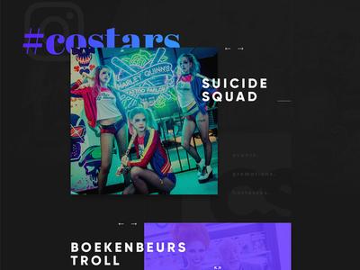 CoStars Home Page Design