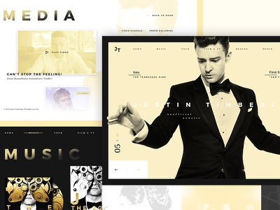 JT Website Redesign trendy redesign website jt justin timberlake
