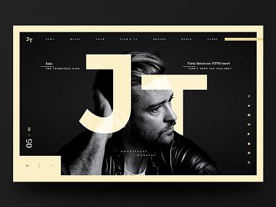JT Website Redesign #4 redesign justin timberlake website