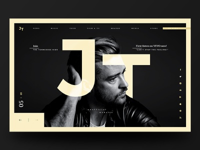 JT Website Redesign #4 redesign justin timberlake website