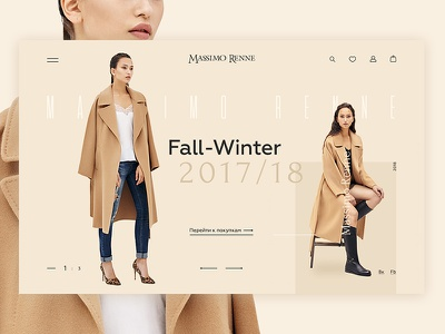 Massimo Renne UI & App Design ux ui website mobile trendy shoes app fashion