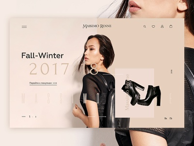 Massimo Renne UI & App Design website ux ui trendy shoes mobile fashion app