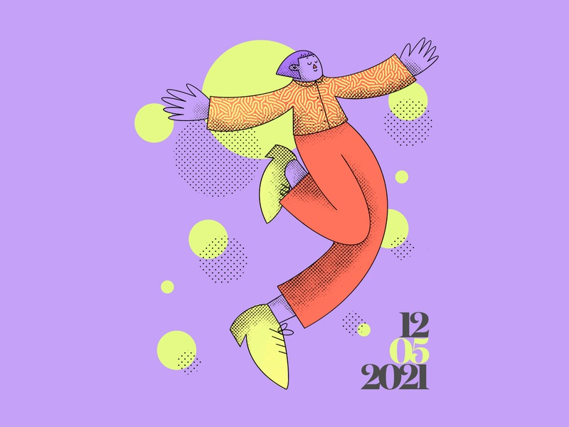 Groove Character | Illustration flatdesign flat groove vector adobe illustration artwork graphicdesign visual minimal graphic design