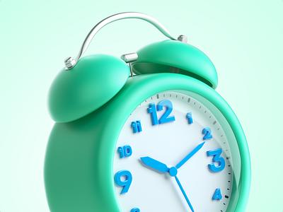 Tik tak illustration business cinema4d octane set icon ding arrow ring ready meeting shedule alarm watch time art 3d clock