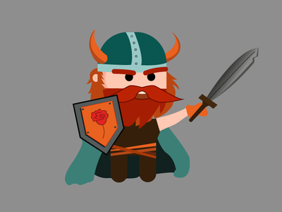 Viking vector illustration icon