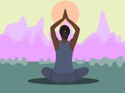 Yoga vector illustration asana yoga morning