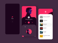 Music app player dribbble typography vector ux ui ux  ui design adobexd music player music app music