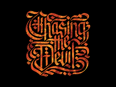 Chasing The Devil type typography letters lettering logotype manila philippines calligraphy adobe illustrator