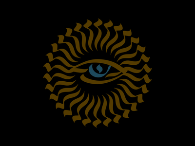 Providence logo dark sun illuminati eye philippines manila calligraphy calligram illustration