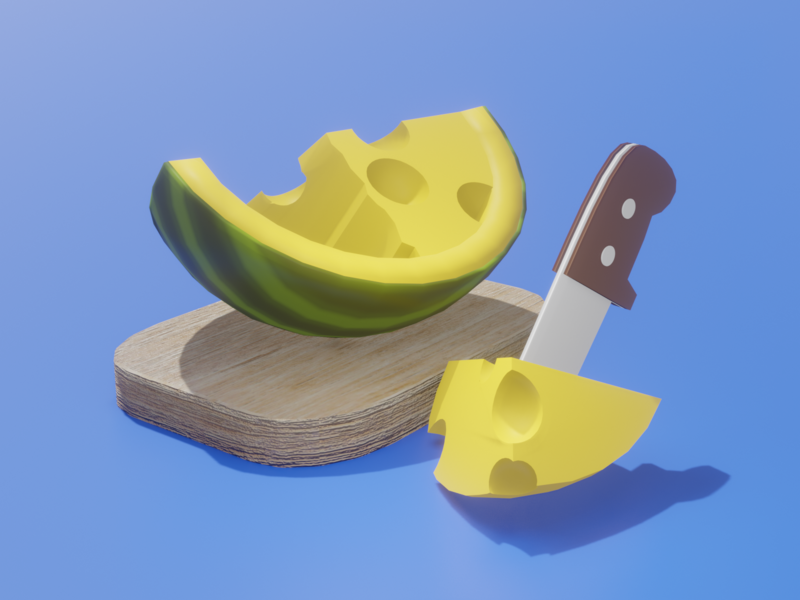Cheesy Watermelon cute branding colorful clean twinbrosco render design blender 3d illustration 3d