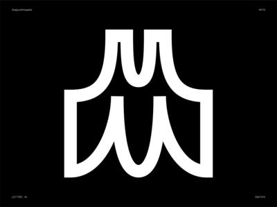 Letter M - Experimental letter mark monogram letter m letter m logo experiment flat type design icon logo illustration letter experimental typeface 36daysoftype typography