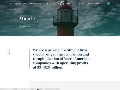 Clearview Concept venture capital visual design webdesign vc