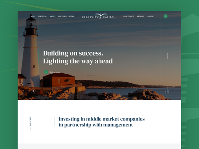 Clearview Concept venture capital visual design webdesign vc