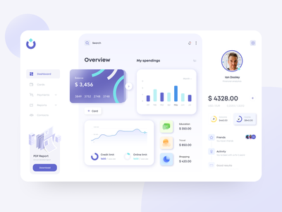 Dashboard Concept finance ui ux dashboard fintech
