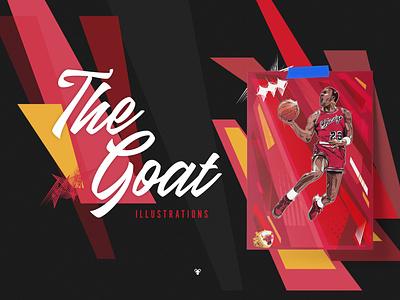 The Goat - Don't @ Us nba pins poster illustration michael jordan
