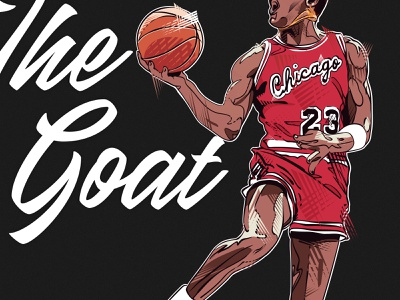 The Goat - Don't @ Us nba pins poster illustration michael jordan