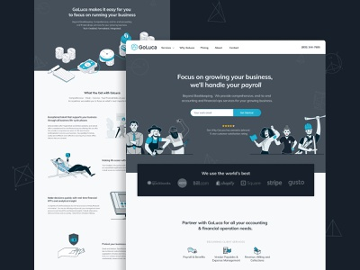 GoLuca Website finances branding design brand design ux ui ux ui design uxui icon website design webdesign web design company typography branding vector ui projects project logo website design