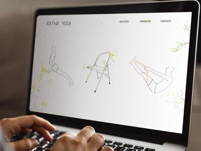 Ratna Yoga branding illustration art illustration design web design yoga logo yoga studio logo branding dibujodigital design ilustraciondigital digital illustration illustration