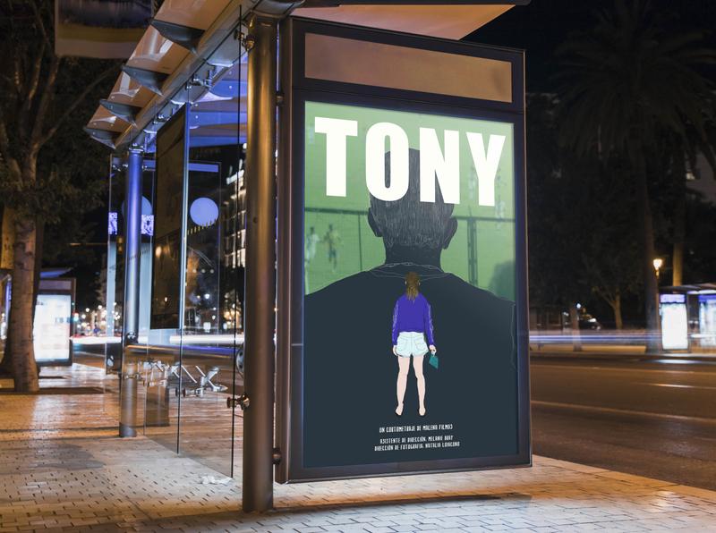 Tony film festival film poster portrait movie movie poster design illustration ilustraciondigital ilustración poster design poster art poster digital illustration