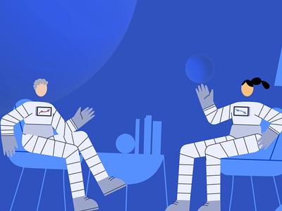 Aircall Conversations animation design aircall conversation people animation