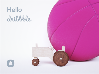 Hello dribbble dribbble hello design system tractor 3d blender aircall