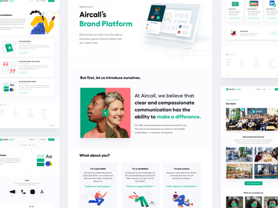 Aircall's Brand Platform external internal visual webdesign website ux ui branding platform brand aircall