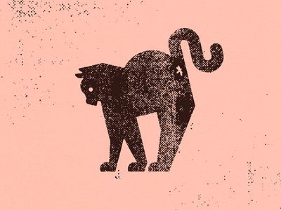 Mon chat dots raster print graphic design kitten cat illustration