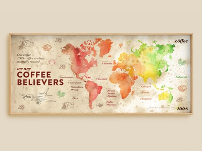 TCS ploteo infographic design wolrd map mapamundi watercolor billborad illustration